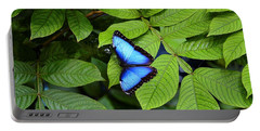Blue Leaves - Morpho Butterfly Portable Battery Charger
