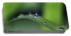 Blue Light On The Droplets Portable Battery Charger