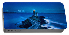 Blue Lighthouse Portable Battery Charger