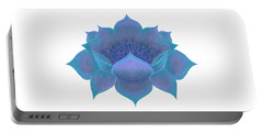 Portable Battery Charger featuring the digital art Blue Lotus by Elizabeth Lock