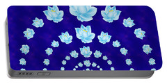 Blue Lotus Tunnel Portable Battery Charger