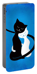 Blue Love Cats Portable Battery Charger