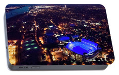 Portable Battery Charger featuring the photograph Blue Lsu Tiger Stadium by Andy Crawford