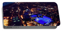 Blue Lsu Tiger Stadium Portable Battery Charger by Andy Crawford
