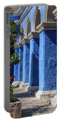 Blue Monastery Portable Battery Charger by Patricia Hofmeester