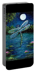 Blue Moon Dragonfly Portable Battery Charger by Sandra Estes