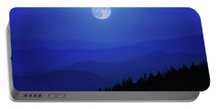 Blue Moon Over Smoky Mountains Portable Battery Charger