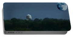 Blue Moon Over Zanesville Water Tower Portable Battery Charger
