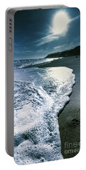Portable Battery Charger featuring the photograph Blue Moonlight Beach Landscape by Jorgo Photography - Wall Art Gallery
