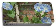 Blue Morning Glories Portable Battery Charger