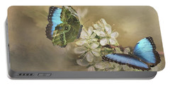 Blue Morpho In Spring Portable Battery Charger