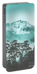 Blue Mountain Winter Landscape Portable Battery Charger