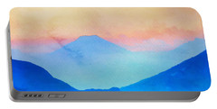 Blue Mountains Watercolour Portable Battery Charger