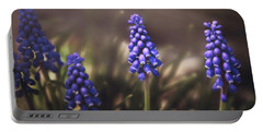 Blue Muscari Portable Battery Charger by Eduard Moldoveanu