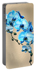 Blue Mystique Orchid Portable Battery Charger by Byron Varvarigos