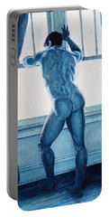 Blue Nude Portable Battery Charger