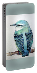 Blue Nuthatch Portable Battery Charger by Marcia Baldwin