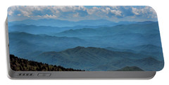 Blue On Blue - Great Smoky Mountains Portable Battery Charger by Nikolyn McDonald