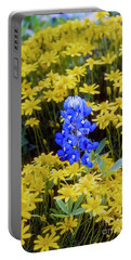 Blue On Yellow Portable Battery Charger