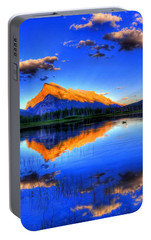 Portable Battery Charger featuring the photograph Blue Orange Mountain by Test Testerton