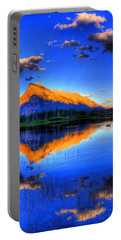 Blue Orange Mountain Portable Battery Charger by Test Testerton