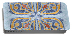 Blue Oriental Tile 04 Portable Battery Charger