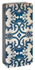 Blue Oriental Vintage Tile 02 Portable Battery Charger