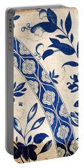 Blue Oriental Vintage Tile 04 Portable Battery Charger