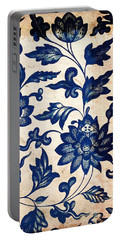 Blue Oriental Vintage Tile 06 Portable Battery Charger