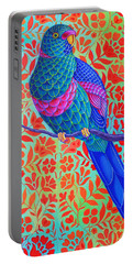 Blue Parrot Portable Battery Charger by Jane Tattersfield
