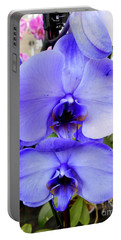 Blue Phalaenopsis Orchid Portable Battery Charger