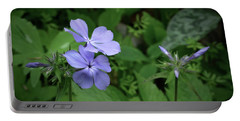 Blue Phlox Portable Battery Charger by Tim Good