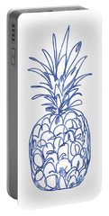 Blue Pineapple- Art By Linda Woods Portable Battery Charger