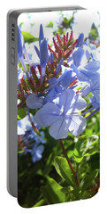 Portable Battery Charger featuring the photograph Blue Plumbago by Mary Ellen Frazee