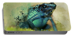 Blue Poisonous Frog Portable Battery Charger