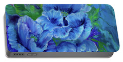 Blue Poppies 11 Portable Battery Charger by Jenny Lee