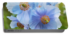 Blue Poppy Portable Battery Charger