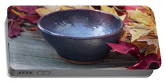 Blue Purple Bowl  Portable Battery Charger
