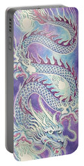 Blue Purple Japanese Dragon Portable Battery Charger