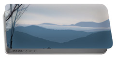 Portable Battery Charger featuring the digital art Blue Ridge Above The Clouds by Gina Harrison