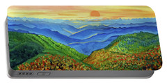 Blue Ridge Mountain Morn Portable Battery Charger