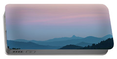 Blue Ridge Mountains After Sunset Portable Battery Charger