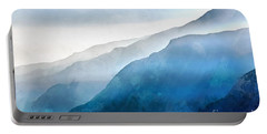Portable Battery Charger featuring the painting Blue Ridge Mountians by Edward Fielding