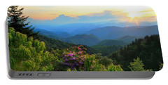 Blue Ridge Parkway And Rhododendron  Portable Battery Charger