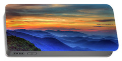 Portable Battery Charger featuring the photograph Blue Ridges 2 Pretty Place Chapel View Great Smoky Mountains Art by Reid Callaway