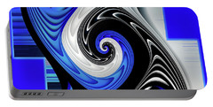 Portable Battery Charger featuring the digital art Blue River by Shadowlea Is