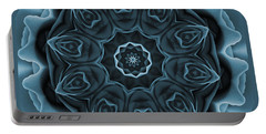 Blue Rose Mandala Portable Battery Charger