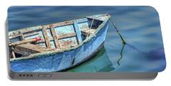 Blue Rowboat At Port San Luis 2 Portable Battery Charger by Nikolyn McDonald
