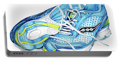 Blue Running Shoes Portable Battery Charger
