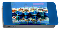 Blue Shrimp Boats Portable Battery Charger